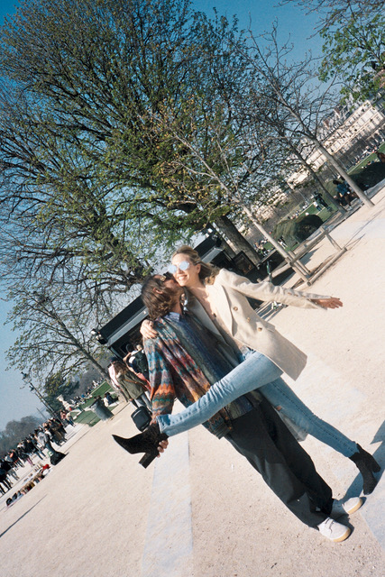This photo was shot by that clown, who after shooting this, ran off with the camera. But we chased after him. Jessica and I split up circled around and cornered him off at the corner of the louvre pyramid. He pulled out a gun, but Jessica immediately kicked it out of his hand. He then pulled out a knife, but by that time Ryan Bobier had crept up from behind and gave hime a shaolin slumber pinch, that collapsed him to the ground, in what seemed like a peaceful relaxing snooze. The gathered crowd of tourists cheered, and whooped, because everyone hates clowns.